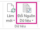Thay đổi nút Nguồn Dữ liệu trên tab Phân tích trong Công cụ PivotTable