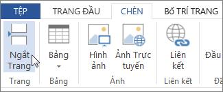 Nút Ngắt Trang trong Word Web App
