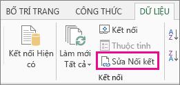 Sửa Nối kết trên tab Dữ liệu