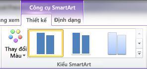 Nhóm Kiểu SmartArt trên tab Thiết kế dưới Công cụ SmartArt