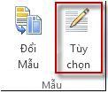 Nút tùy chọn mẫu trong Publisher 2013