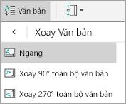 Xoay văn bản bảng Android