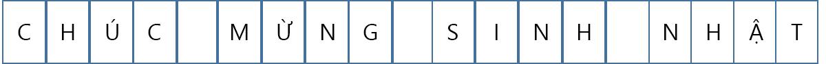 Đối với biểu ngữ này, có một chữ cái duy nhất trên mỗi trang.