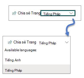 Danh sách thả xuống ngôn ngữ
