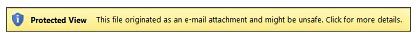 Dạng xem được Bảo vệ dành cho tệp đính kèm của email