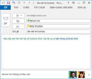 văn bản siêu kết nối đã hiệu đính trong thông điệp email