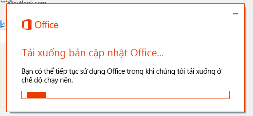 Hộp thoại tải xuống Office