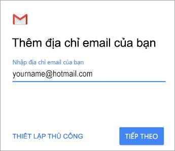 Thêm địa chỉ email của bạn