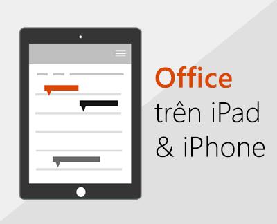 Bấm để thiết lập các ứng dụng Office trên iOS