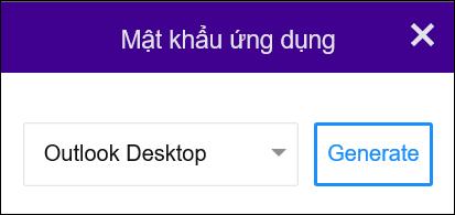 Chọn Outlook trên Máy tính, rồi Tạo.