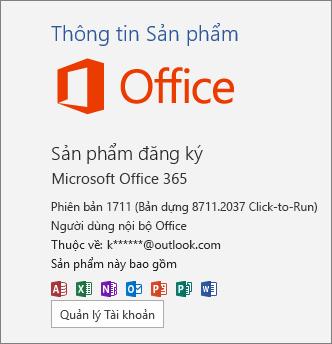 Bản dựng người dùng nội bộ Office