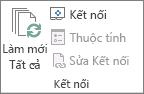 Nhóm kết nối trên tab Dữ liệu