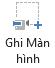 Nút Quay phim màn hình trên tab Ghi trong PowerPoint 2016