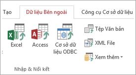 Tab dữ liệu bên ngoài của Access