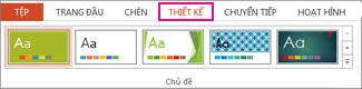 Bộ sưu tập chủ đề trên tab Thiết kế