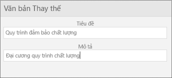 Hộp thoại văn bản thay thế cho hình ảnh trong PowerPoint Mobile cho Windows Phone.