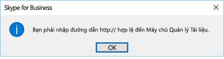 Thông báo lỗi hiển thị khi bạn thử mở tệp từ vị trí khác OneDrive for Business