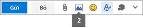 Biểu tượng Chèn Ảnh cho phép bạn chèn từ OneDrive hoặc máy tính
