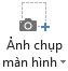 Nút ảnh chụp màn hình trên tab bản ghi trong PowerPoint 2016