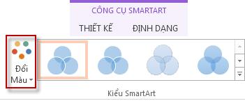 Tùy chọn Thay đổi Màu trong nhóm Kiểu SmartArt