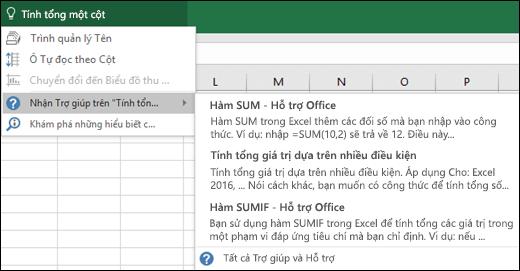 Bấm vào hộp Cho Tôi Biết trong Excel và nhập vào nội dung bạn muốn thực hiện. Cho Tôi Biết sẽ giúp hoàn thành tác vụ.