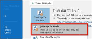 thiết đặt tài khoản Windows