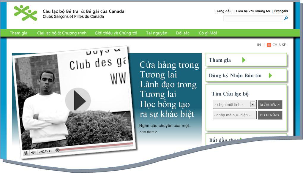 Hình tức thời của website BGCC
