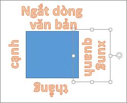Thêm WordArt xung quanh một hình dạng với thẳng cạnh