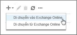 Chọn Di chuyển đến Exchange Online