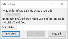 Sửa đổi một tệp Excel được bảo vệ bằng mật khẩu
