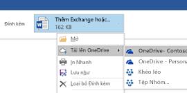 Tải các tệp đính kèm Outlook lên OneDrive