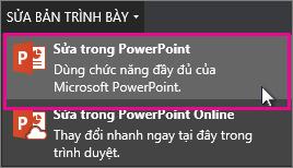 Sửa trong PowerPoint trên máy tính