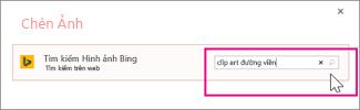 Tìm kiếm clip art viền trên Bing
