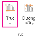 Nút trục trên tab Biểu đồ