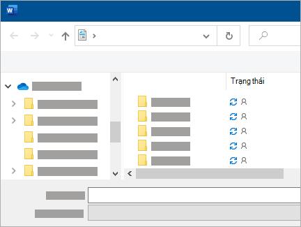 Lưu cửa sổ hiển thị đồng bộ OneDrive đang chờ xử lý