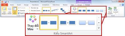 Tab Thiết kế bên dưới Công cụ SmartArt