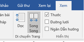 Dạng xem Song Song trong Word 2016