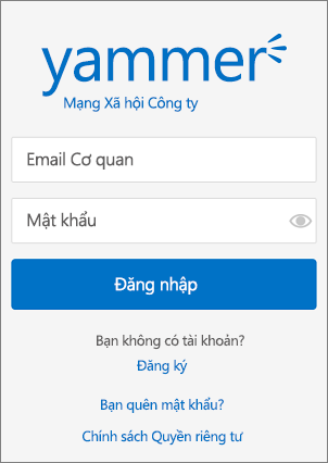 Trang đăng nhập