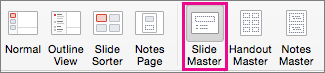 Lệnh Trang chiếu Cái trong PPT cho Mac