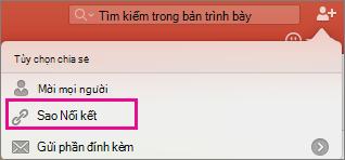 Sao chép Nối kết trong Chia sẻ trong PPT cho Mac
