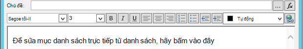 Xác định Màn hình thư email sau khi chèn biến số