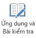 Nút ứng dụng và câu đố trên tab bản ghi trong PowerPoint 2016