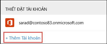 Thêm Tài khoản trong Outlook