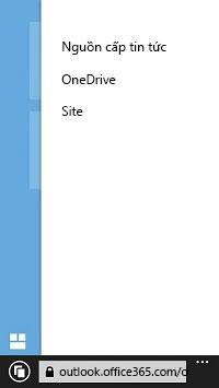 Danh sách các site SharePoint trên một thiết bị di động