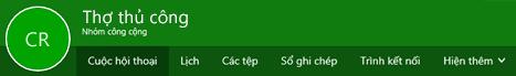 Nhóm ruy-băng trong Outlook trên web