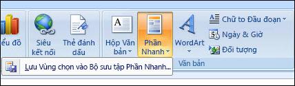 Phần Nhanh của Outlook 2007
