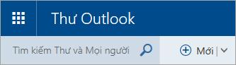 Ảnh chụp màn hình góc trên cùng bên trái hộp thư Outlook.com cổ điển