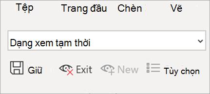 Hiển thị dạng xem trang tính trong Excel