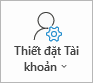 Nút thiết đặt tài khoản Outlook