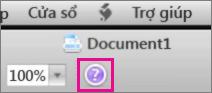 Bấm dấu chấm hỏi để mở Trợ giúp Mac Office